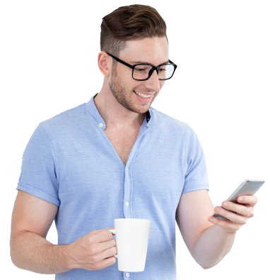 cheerful-intelligent-man-reading-message-on-phone_1262-4738