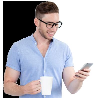 cheerful-intelligent-man-reading-message-on-phone_1262-4738