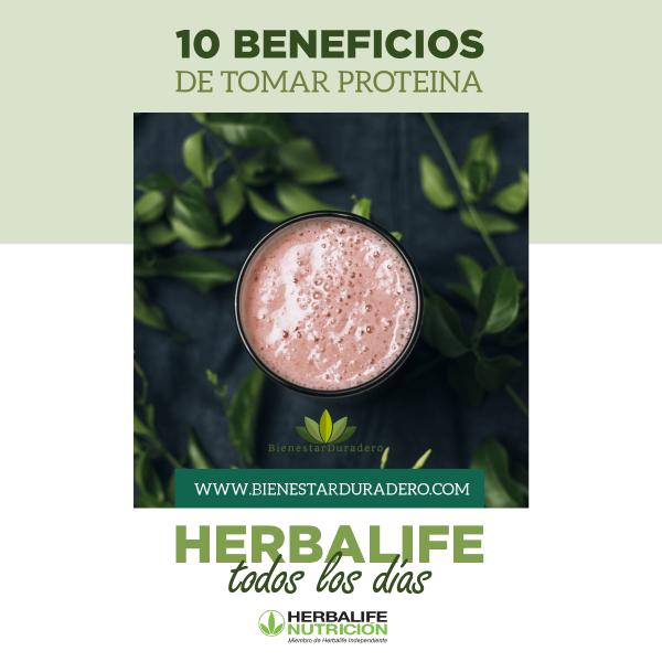 10 beneficios de consumir proteína Herbalife todos los días