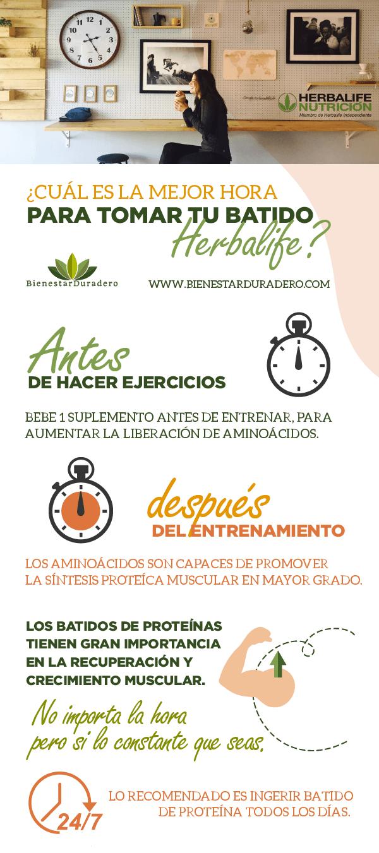 Conoce ¿Cuál es la mejor hora para tomar tu batido Herbalife?