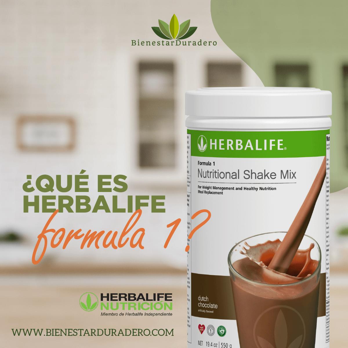 ¿Qué es Herbalife Fórmula 1?