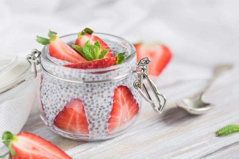 Pudin de Chia y fresa